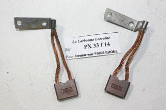 CHARBONS PSX 18390 POUR DEMARREUR PARIS RHONE...POUR TRACTION 11CV U23 TYPE H HY