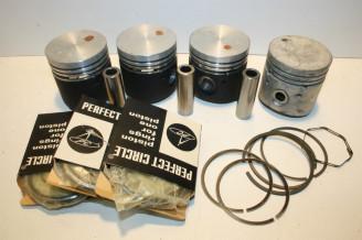 KIT PISTONS/SEGMENTS D/65mm FLOQUET MONOPOLE 55201-2...RENAULT R8 FLORIDE CARAVELLE