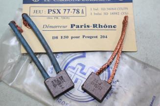CHARBONS PSX 77-78A pour DEMARREUR PARIS RHONE...PEUGEOT 204 voir descriptif