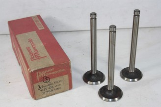 LOT DE 3 SOUPAPES D'ADMISSION FLOQUET MONOPOLE 4755...SIMCA 1000  5CV 1963/1968