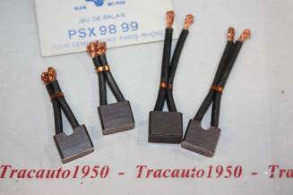 CHARBONS PSX 98-99 POUR DEMARREUR PARIS RHONE...504 D J7 D ESTAFETTE TRACTEURS RENAULT