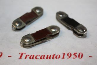 LOT DE 3 FUSIBLES LB 1-A  42x10x6mm...RENAULT SAVIEM AUTOS ANCIENNES DIVERS