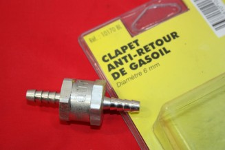 CLAPET ANTI-RETOUR DE GAZOLE  D/6mm...AUTOS MOT DIESEL DIVERS