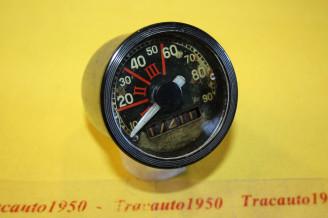 COMPTEUR DE VITESSE ET KM ROND JAEGER 90 km/h...CITROEN 2CV AZ AZU 1954/61
