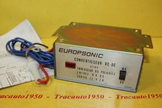 CONVERTISSEUR/INVERSEUR 6V/12V EUROPSONIC DC-612P pour AUTORADIO...AUTOS DIVERS...voir descriptif