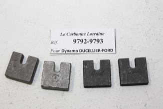 CHARBONS 9792/9793 POUR DYNAMOS DUCELLIER-FORD...FORD AVANT GUERRE voir descriptif