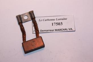 CHARBON 17503 POUR DEMARREURS MARCHAL-VAUCANSON...TALBOT DELAHAYE MATHIS voir descriptif