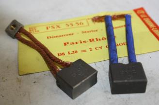 CHARBONS PSX 55-56 POUR DEMARREUR PARIS RHONE...POUR CITROEN 2CV RENAULT FLORIDE