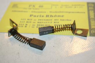 CHARBONS PX 46 POUR ALTERNATEUR12V PARIS RHONE...PEUGEOT 404 INJ RENAULT R16TS