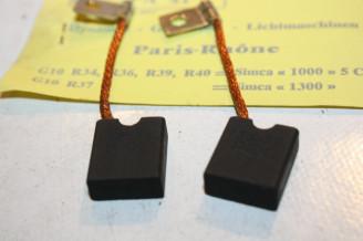 CHARBONS PX 41 POUR DYNAMO 12V PARIS-RHONE...SIMCA ARONDE ARIANE 1000 1300 1500