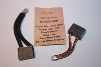 CHARBONS USX 50-51 POUR DEMARREUR DUCELLIER...CITROEN TRACTION DS ID HY FREGATE