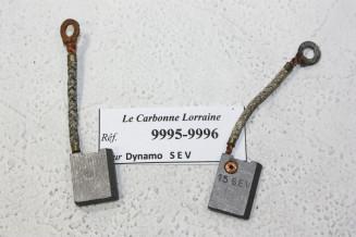 CHARBONS 9995/9996 POUR DYNAMOS SEV...POUR AUTOS ANCIENNES PEUGEOT DELAHAYE