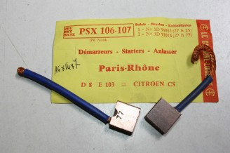 CHARBONS PSX 106-107 POUR DEMARREUR 12V PARIS RHONE...POUR CITROEN GS GSA GX