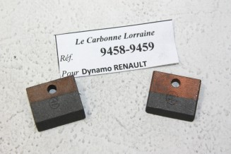 CHARBONS 9458/9459 POUR DYNAMOS RENAULT...POUR RENAULT JUVAQUATRE