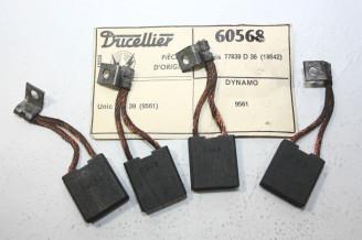 CHARBONS UX 60568 POUR DYNAMOS DUCELLIER...CAMIONS UNIC MZ39 BERLIET CITROEN...