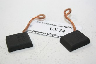 CHARBONS UX 34 POUR DYNAMOS 6/12V DUCELLIER...4CV SIMCA ARONDE PANHARD PL17