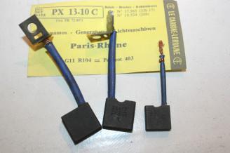 CHARBONS PX 13-10C POUR DYNAMOS 12V PARIS RHONE...POUR PEUGEOT 203 403 404
