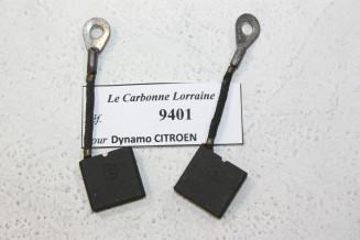 CHARBONS 9401 POUR DYNAMOS 6V CITROEN...POUR CITROEN 5CV B2 B12 B14 C4 C6