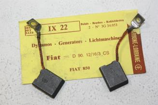 CHARBONS IX 22 POUR DYNAMOS FIAT...POUR FIAT 850 1100 AUTOBIANCHI