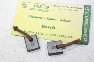 CHARBONS BSX 59 POUR DEMARREUR BOSCH...OPEL ADMIRAL BMW PORSCHE MERCEDES