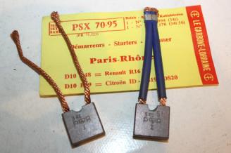 CHARBONS PSX 70-95 POUR DEMARREUR PARIS RHONE...ID DS 403 404 504 R16TS R15 R17