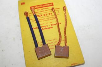 CHARBONS PSX 33-72 POUR DEMARREUR PARIS RHONE..CITROEN 2CV 3CV DS 19 ID 19