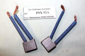 CHARBONS PSX 52A pour DEMARREURS PARIS RHONE..CITROEN 2CV 3CV DS 19 ID 19 TRACTEURS voir descriptif