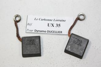 CHARBONS UX 35 POUR DYNAMOS DUCELLIER...POUR PEUGEOT 403 404 RENAULT 4CV FREGATE
