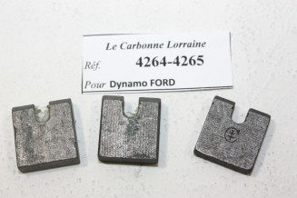 CHARBONS 4264/4265 POUR DYNAMOS FORD...POUR FORD A AA AF B V8 1935
