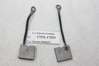 CHARBONS 17531/17533 POUR DYNAMOS RENAULT...POUR RENAULT DIVERS AVANT GUERRE