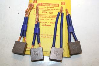 CHARBONS PSX 128 POUR DEMARREUR PARIS RHONE...POUR PEUGEOT 204 304 DIESEL R20 TS