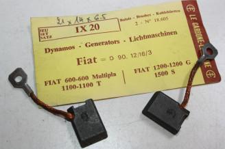 CHARBONS IX 20 POUR DYNAMO FIAT...POUR FIAT 600 MULTIPLA 1100 1100T 1200G 1500S